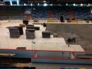 Instalace pokrytí ledové plochy zimního stadionu v Hradci Králové